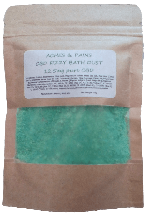 Aches and Pains CBD Hemp Oil Aromatherapy Fizzy Bath Dust - 12.5mg